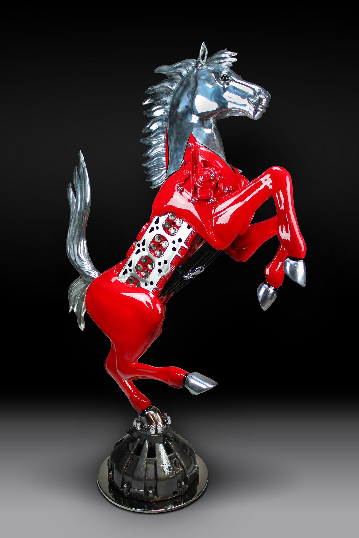 James Ferrari Sculpture: Testarossa | cavallino