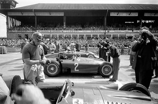 Getting Ready on the Grid at Nürburgring, 1956
