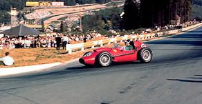 Hawthorn at La Source, Belgian Grand Prix, 1958