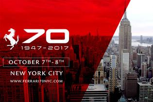 Ferrari 70th Anniversary Arrives in New York City