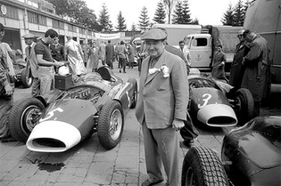 In the Fahrerlager at the German Grand Prix, 1956