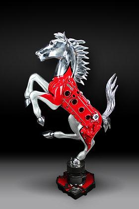 James Ferrari Sculpture: Quatrovalvole Prancing Horse
