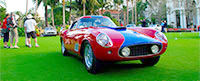 A classic Ferrari on the lawn at The Breakers during the Cavallino Classic.