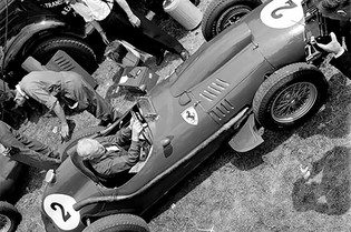 The Ferrari 246F1 Dino at Silverstone, June 1958
