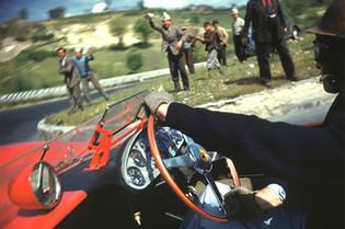 During the Mille Miglia: Peter Collins & Ferrari in 1957