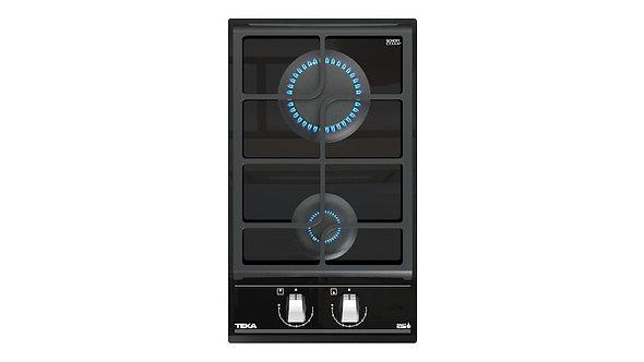"Parrilla de Gas Empotrable GZC 32300 XBB Cristal Cerámico Negro 30 cm (12"")"
