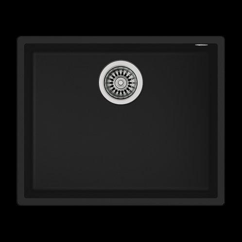 Tarja Fregadero Submontar Sencilla SQUARE 50.40 TG B Tegranite+ Negro 54 cm