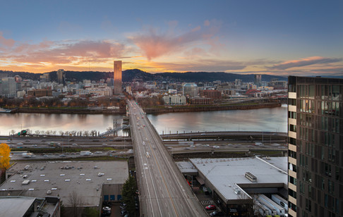 Portland Oregon City Skyline