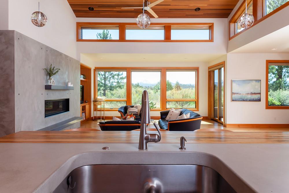 Karen Smuland Architect custom home in Bend Oregon photographed by Cheryl McIntosh