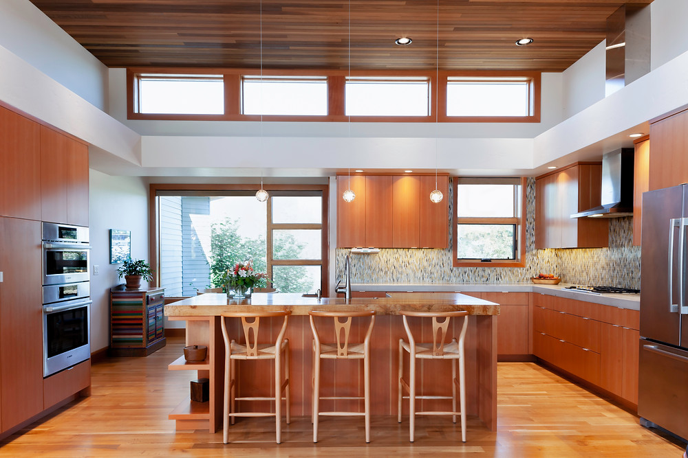 Custom home in Bend designed by Karen Smuland and built by High Timber Construction
