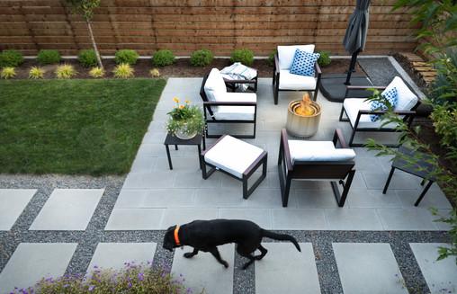 An architect's backyard