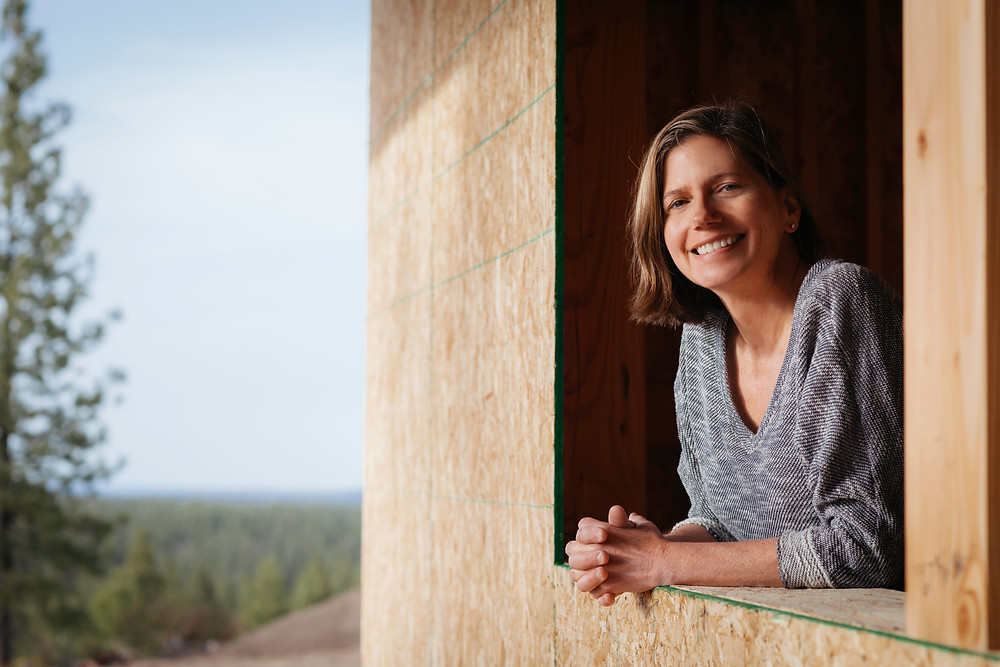 Karen Smuland, Architect in Bend specializing in high end custom homes photographed by Cheryl McIntosh