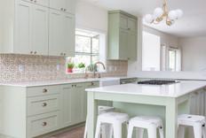 Pastel custom kitchen interior design