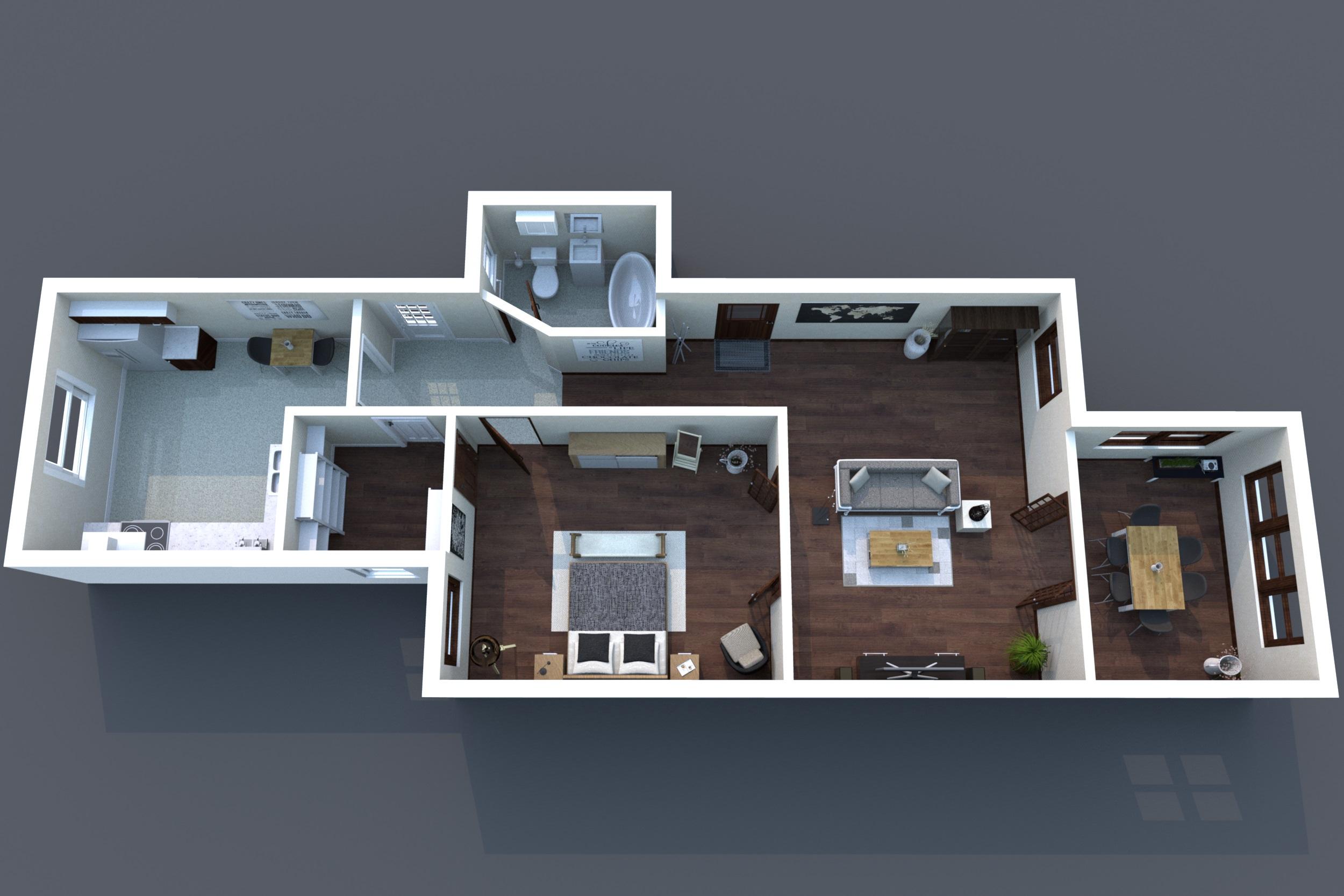 3D Floor Plan B