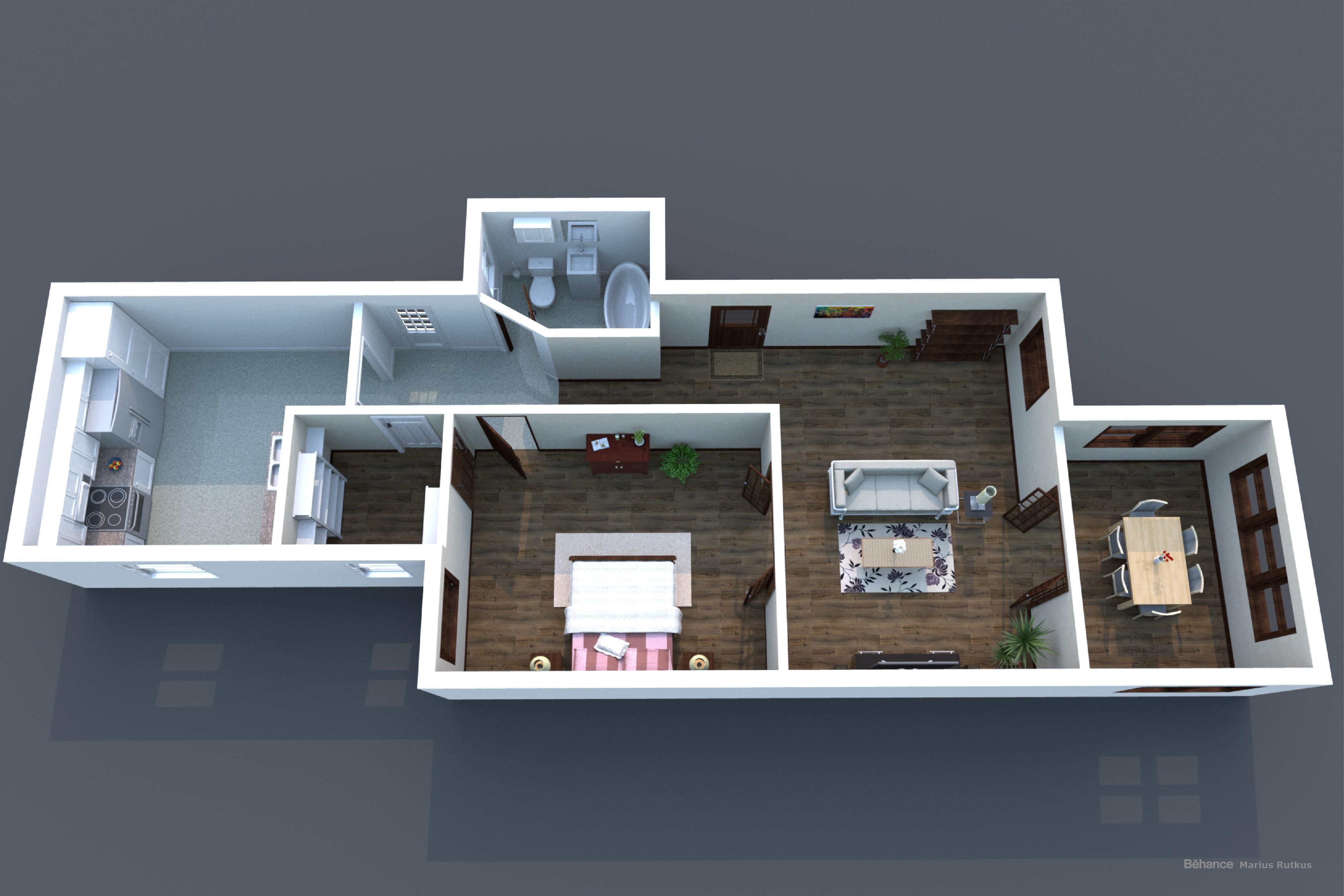 3D Floor Plan A