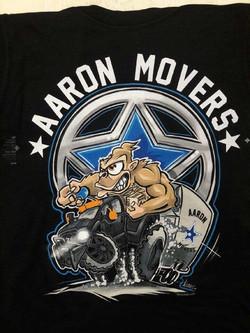Aaron Movers waterbse print