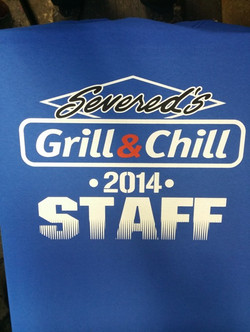 Grill and chill staff shirts