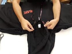 Raw hoodie-Custom drawstrings