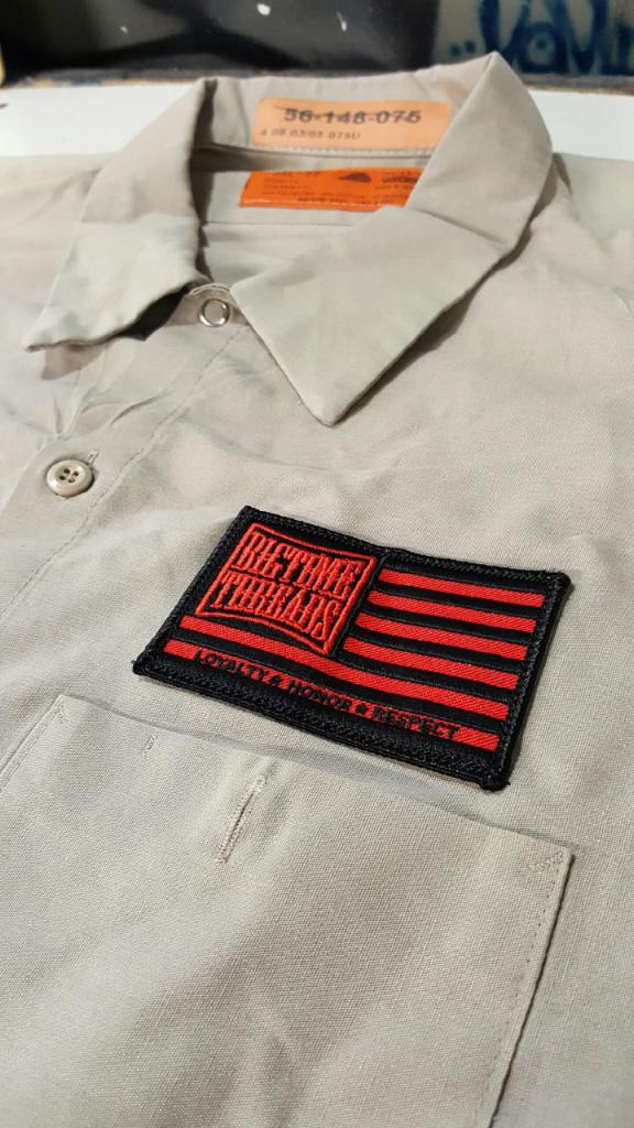 Vintage work shirt with patch