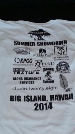 Summer showdown 2014 back print