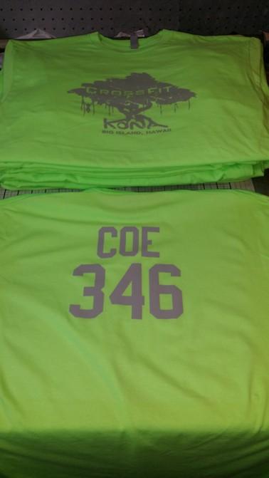 Crossfit kona athlete shirts
