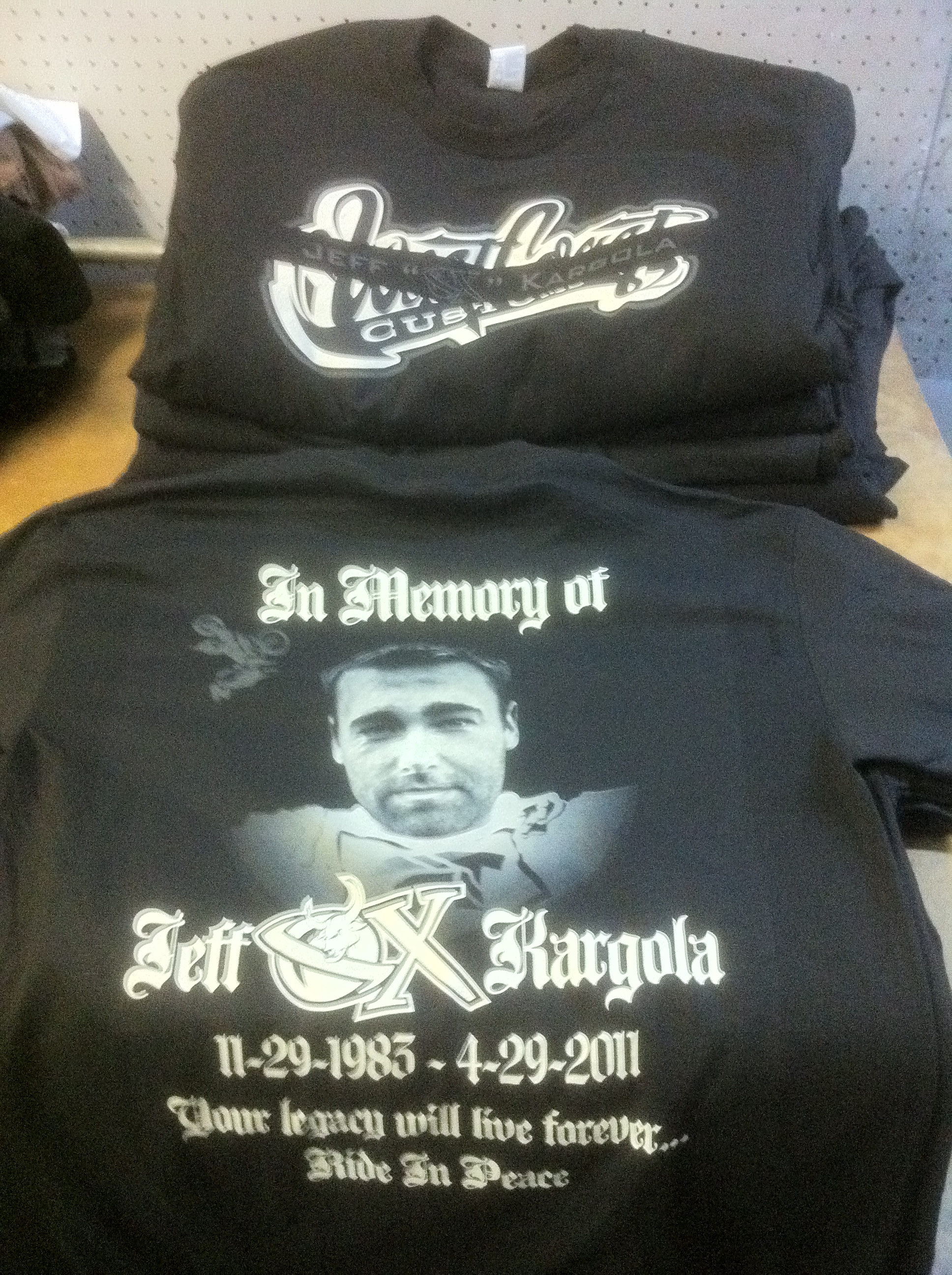 In memory shirt for the great OX