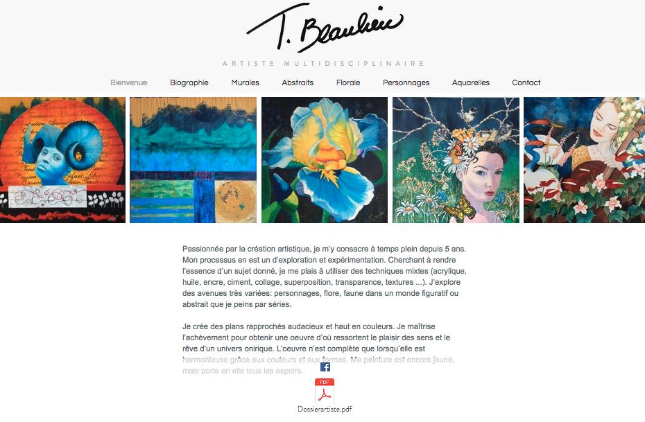 T. Beaulieu artiste peintre