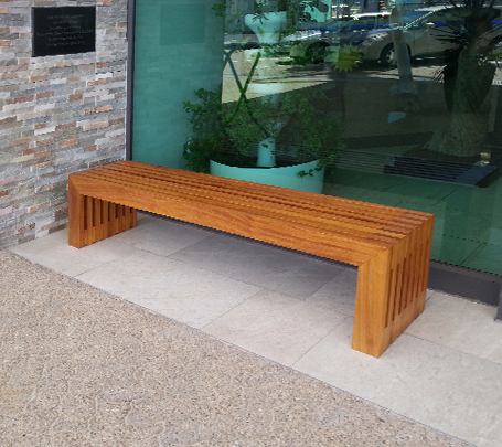 Commercial outdoor bench