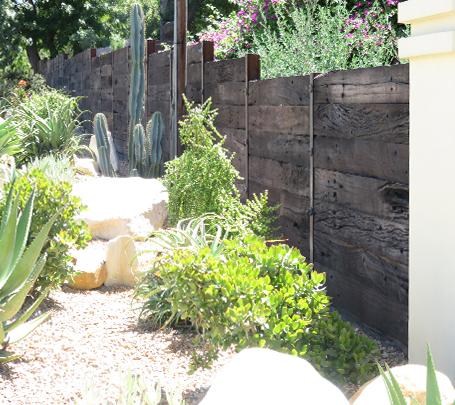 Reclaimed Sleeper Fence