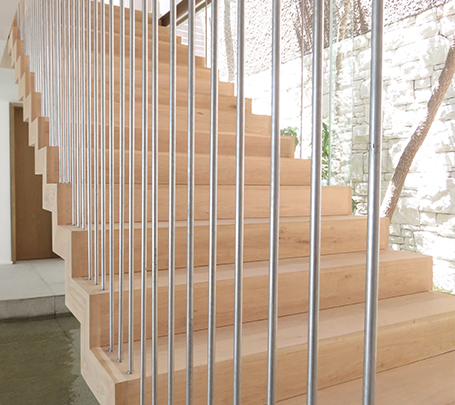 Timber Floating Stairs Detail