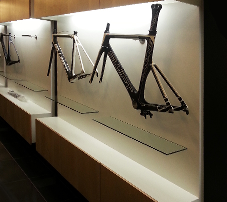 Detail of shopfitting unit