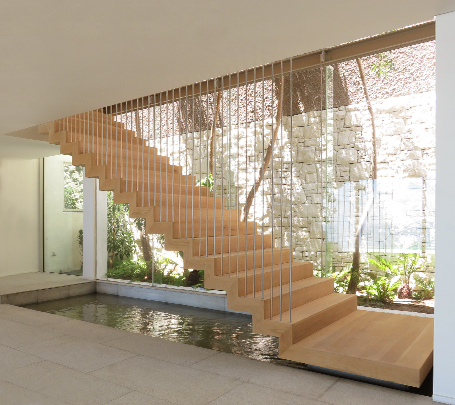 Timber Floating Stairs