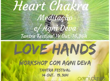 Outubro.:. Heart Chakra Meditação.:. Love Hands Workshop .:. Terapias individuais
