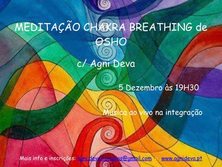 Meditação Chakra Breathing c/ Agni Deva :: 5 Dez. :: 19H30 :: Lisboa