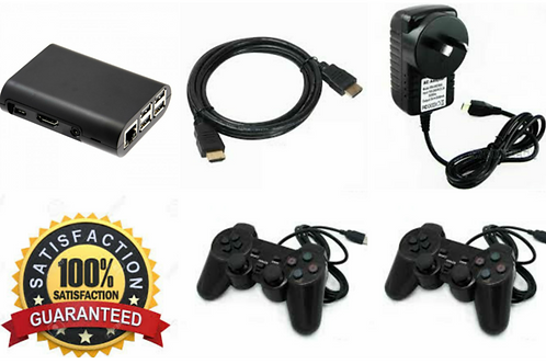 MICRO CADE OVER 50,000 RETRO GAMES, 2 X PLAYSTATION USB WIRED CONTROLLERS.