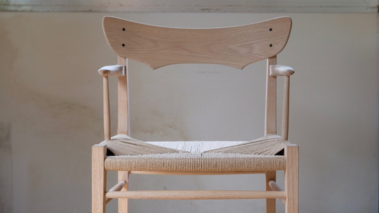 アームチェア 肘掛け椅子 ナラ ペーパーコード