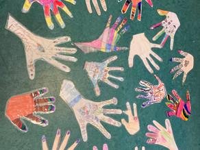 'Lend a Hand' by Glan Usk Primary School Hub Children