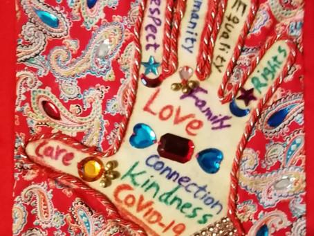 'Hand with Love, Care, Equality' by Rahila Hamid