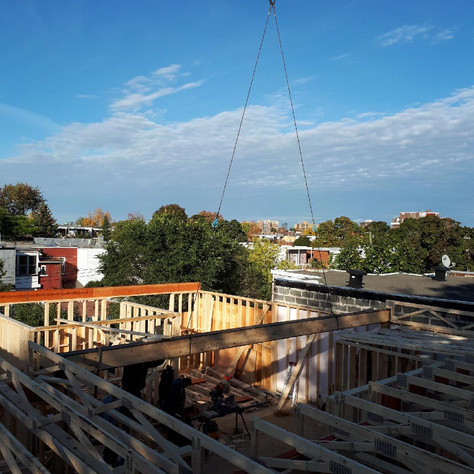 Home addition + rooftop mezzanine