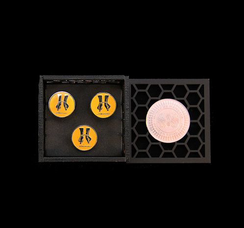 House of Mandela Struggle Series Cufflink and Lapel Set
