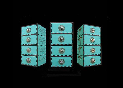 House Of Mandela 4 Shelf Jewel Box