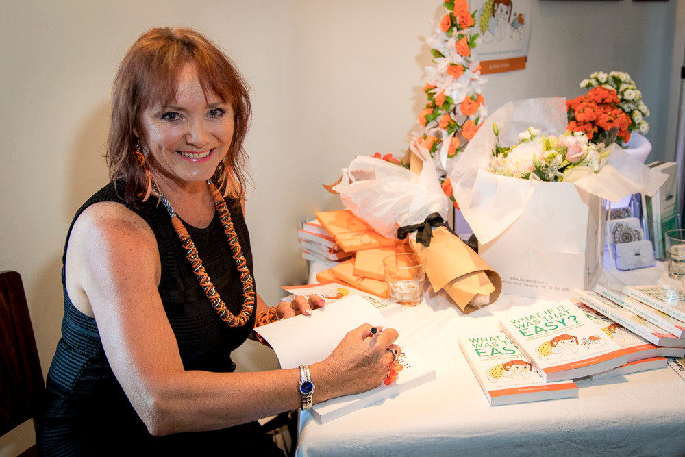 """Nicky Crocker of Clear Energy Homes at the launch of her latest book, """"What if it was that easy?"""", available from Amazon."""