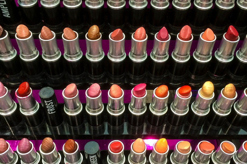 All the individual elements are identical & made & displayed identically. There is just a small (colour) element that distinguishes these lipsticks. The same, but different.