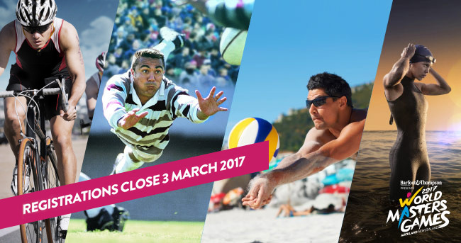 the 2017 World Masters Games are being held in Auckland this year - set your calendar & support or even enter!