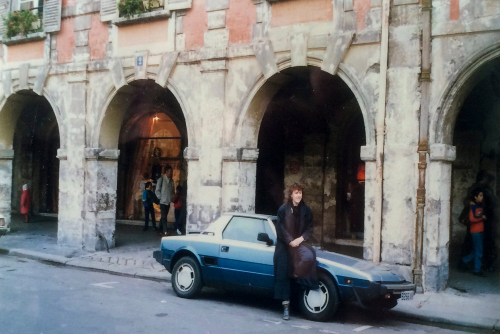 My (now) wife by our car in Place des Vosges, Paris. We were staying at the Hotel de la Place des Vosges - the very definition of 'boutique'.