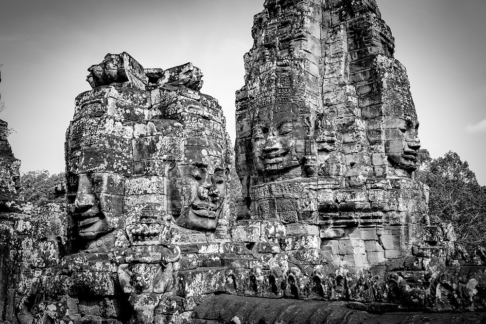 The Bayon is known as the faces temple, because every tower has four faces carved into it. It is an exquisite place