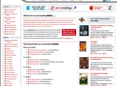 LoveReading4Kids Website