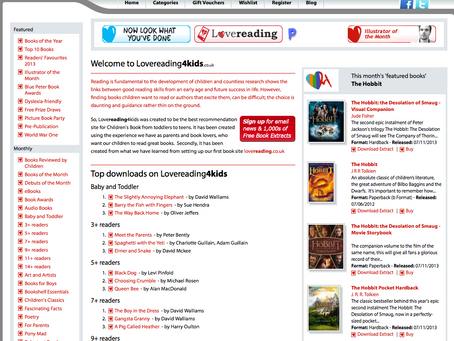 LoveReading4Kids Website