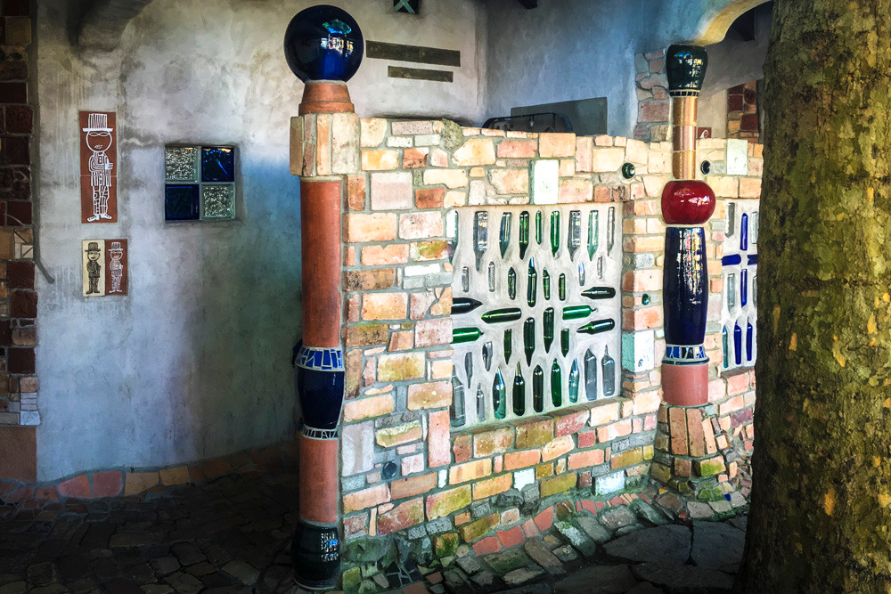 Hundertwasser public toilets in Kawakawa, Northland. A popular tourist attraction as well as a convenient stopping point on a road trip north.