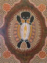 Indigenous art echidna